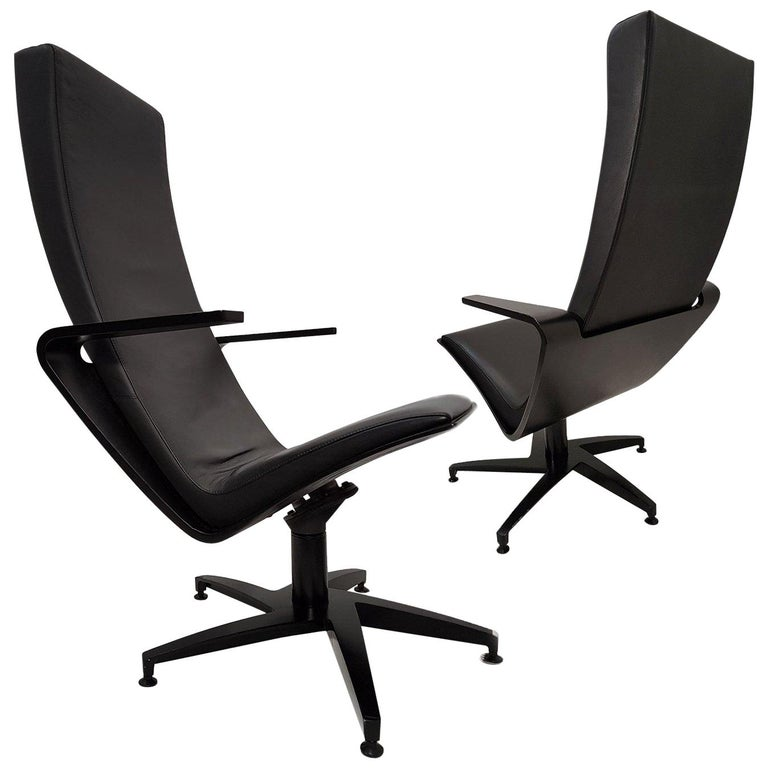 Pair of Sculptural Swiveling Chairs by Pennti Hakla for Avate, Finland, 2001 For Sale