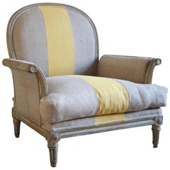 19th Century Painted French Armchair
