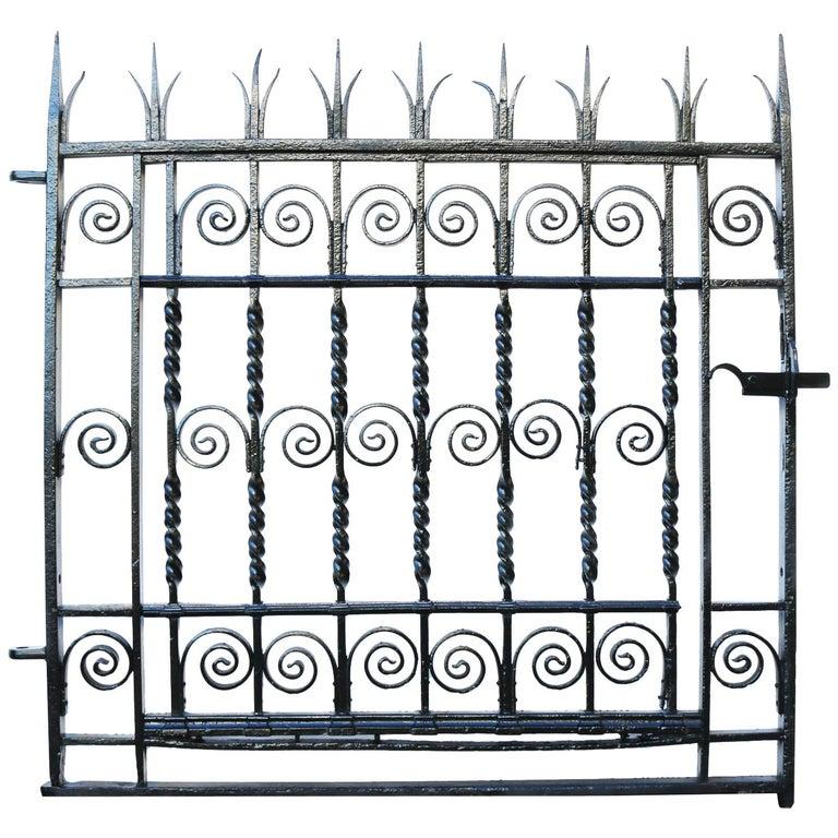 Antique Georgian Wrought Iron Pedestrian Gate For Sale