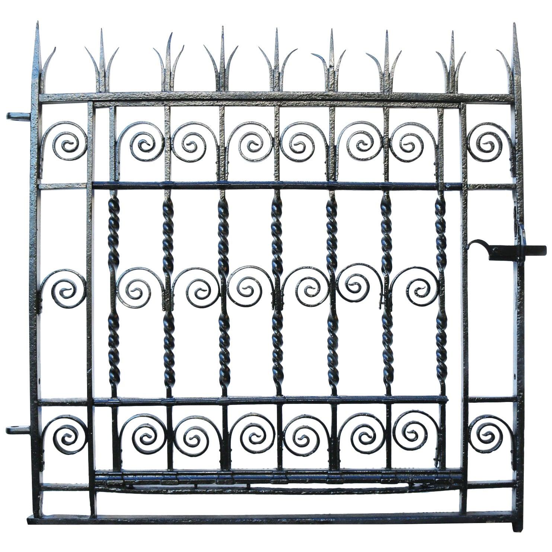 Antique Georgian Wrought Iron Pedestrian Gate