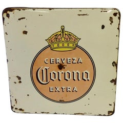 Early Corona Beer Porcelain Advertising Sign