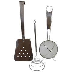 Three Jere Attributed Oversize Wall Hanging Kitchen Tools