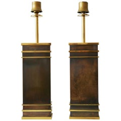 Set of Two Monumental Midcentury Table Lamps by Vereinigte Werkstätten, Germany