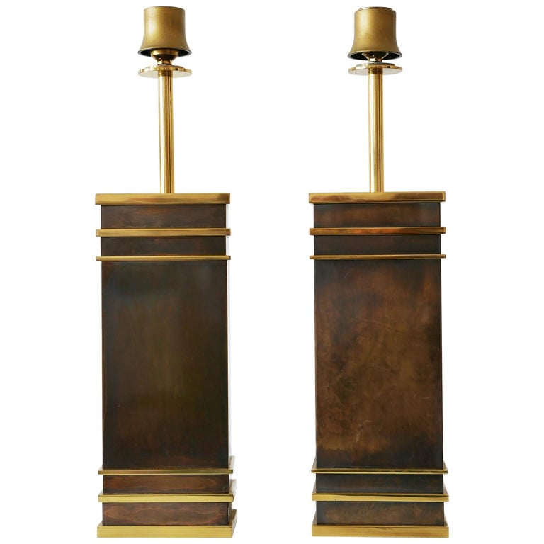 Set of Two Monumental Midcentury Table Lamps by Vereinigte Werkstätten, Germany For Sale