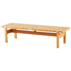 Borge Mogensen, Oak and Cane Bench for Fredericia Stolefabrik, 1950s
