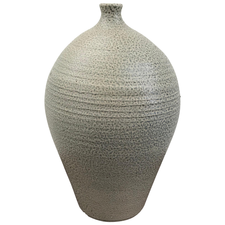 Mid-Century Modern Glazed Ceramic Stoneware Vase by Michael Kreisberg