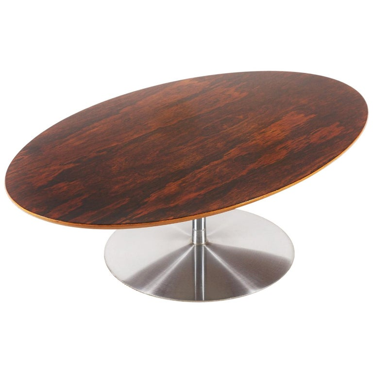 Rare Pierre Paulin Rosewood Coffee Table for Artifort, 1960s For Sale