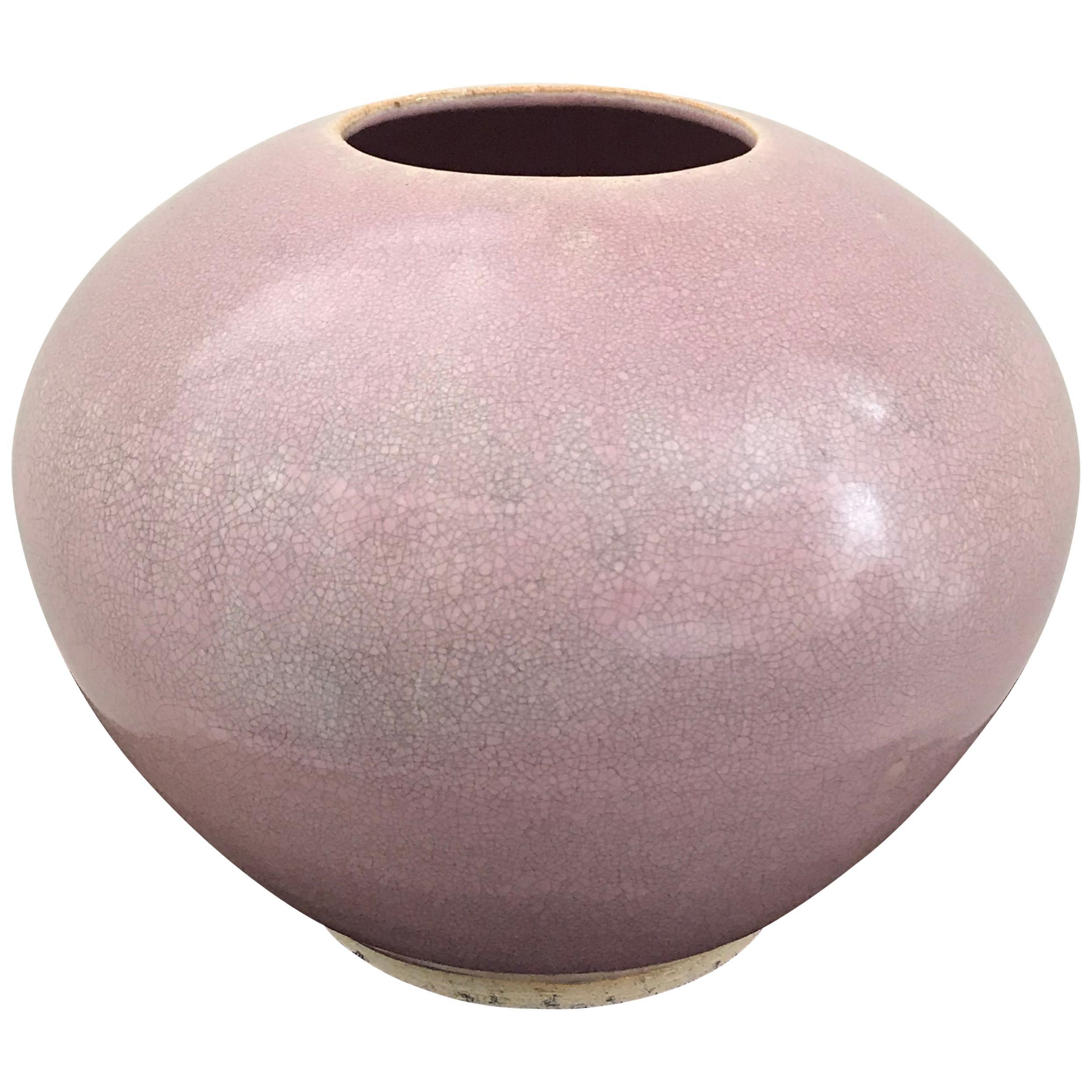 Mid-Century Modern Glazed Ceramic Vase by Walter Yovaish, 1975