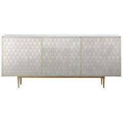 Bethan Gray Nizwa Two-Door Cabinet White and Brass