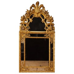 20th Century Gilt and Chiselled Wood French Louis XIV Style Mirror, 1950