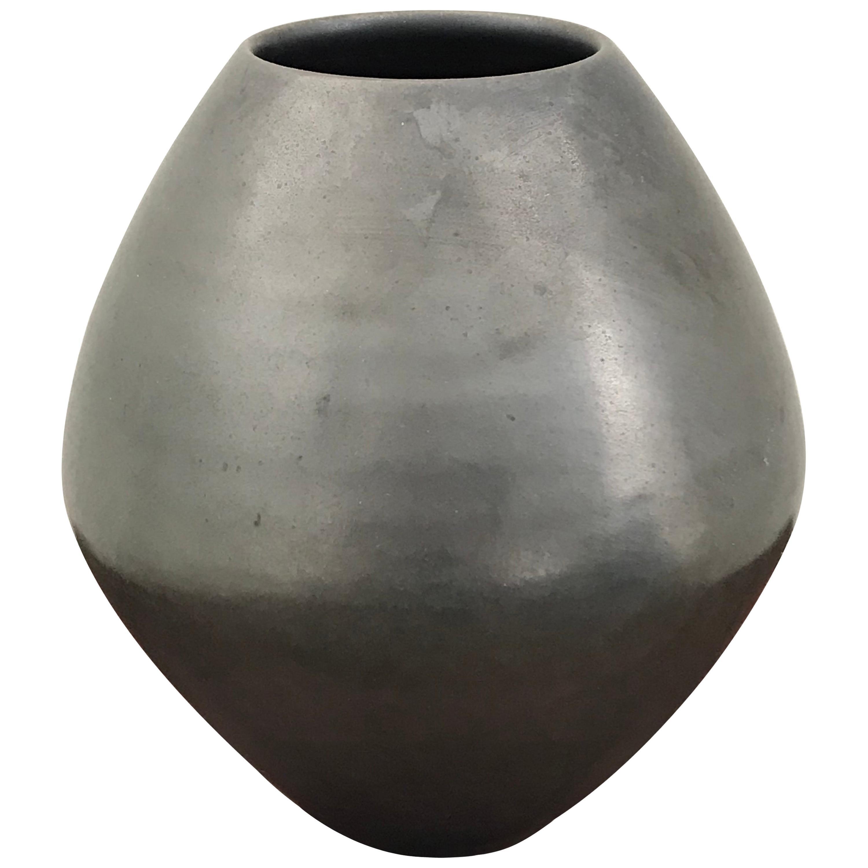 Mid-Century Modern Iridescent Glazed Ceramic Vase by Mobach, Holland
