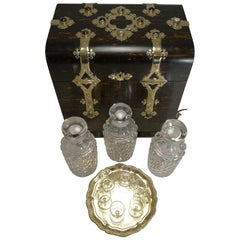 Fine Antique English Coromandel Decanter / Drinks Box, circa 1880