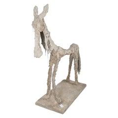 Concrete Donkey Signed R.Dubos, France, 1970s