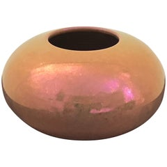 Mid-Century Modern Iridescent Glazed Ceramic Vase by Mobach, Holland