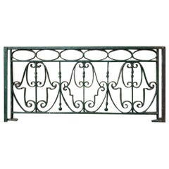 Late 19th Century Decorative Wrought Iron Balustrade/Railing