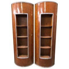 Original Art Deco Yacht Wood Shelving by Chris Craft Boats