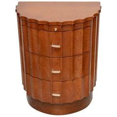 Art Deco Demilune Side Table