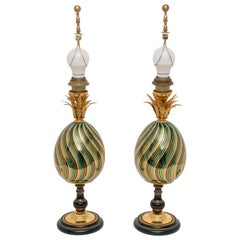 Pair of Egg Form Table Lamps
