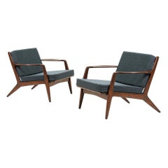 Danish Modern Lounge Chairs by Ib Kofod-Larsen for Selig