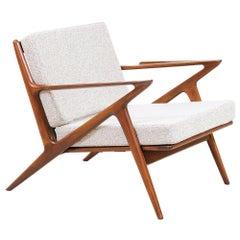 Danish Modern `Z` Lounge Chair by Poul Jensen for Selig