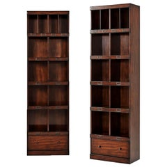 Pair of Campaign Style Bookcases