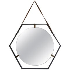 Hexagonal Wall Mirror by Santambrogio & De Berti