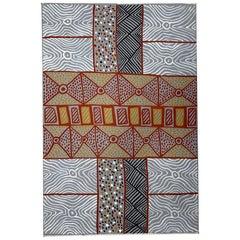 An Australian Aboriginal Painting of Body Paint Design
