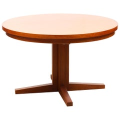 Midcentury Danish Extending Teak Flip Flap Table by Dyrlund