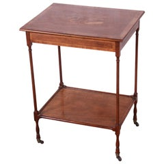 Baker Furniture Petite Inlaid Mahogany Marquetry Side Table