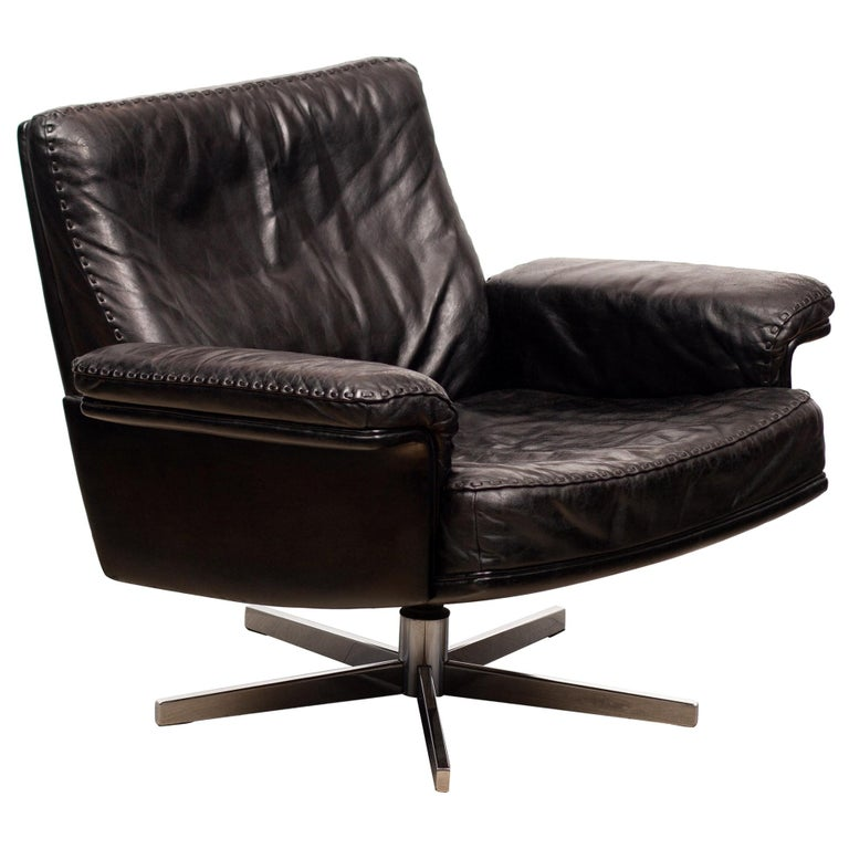 De Sede DS53 Leather Swivel Chair For Sale
