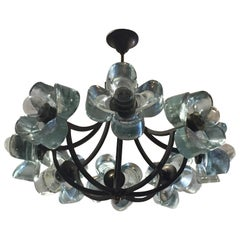 Exceptionally Rare Glass Daisy Chandelier