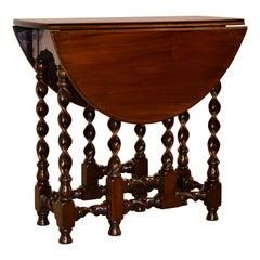 19th Century Mahogany Gate Leg Table