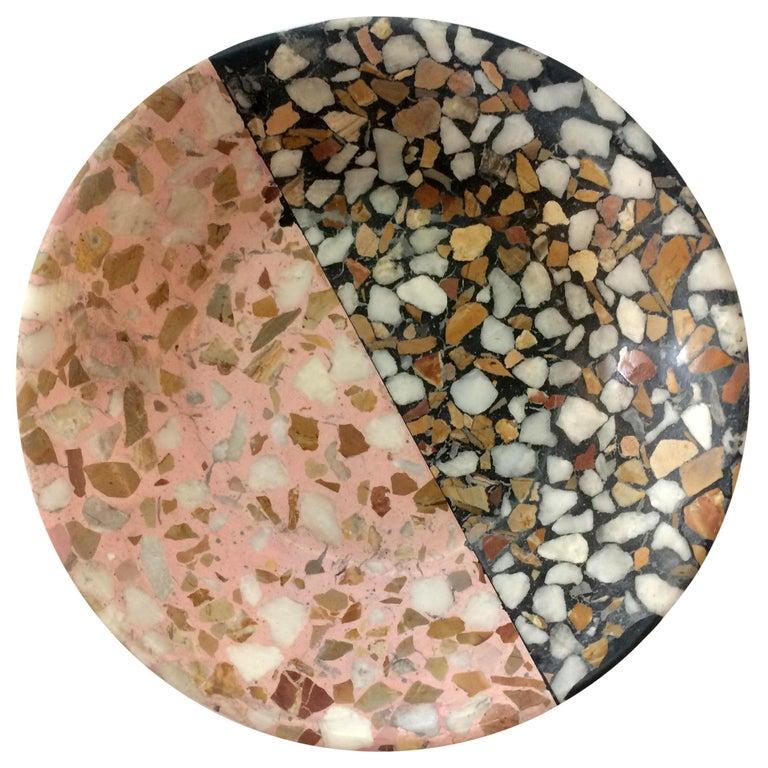 Pin Tray / Ashtray Pink Terrazzo Stone Contemporary Style 'Mini' For Sale