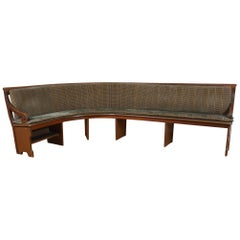Antique Wooden Banquette Bench