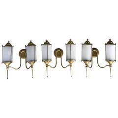 20th Century Set of Three Double Light Appliques