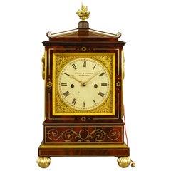 Fine Inlaid Mahogany Fusee Bracket Clock, Howden , Edinburgh