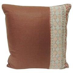 Vintage Kalamkari Indian Square Decorative Pillow