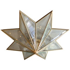 1970s French Starburst Ceiling Fixture
