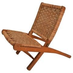 Mexican Modernist Small Folding Chair after Clara Porset