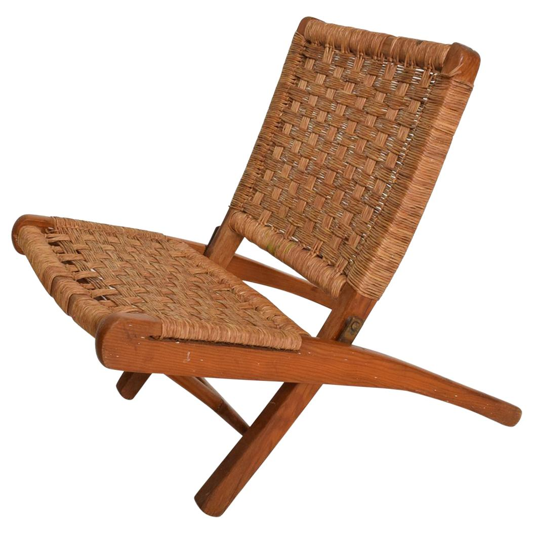 Gentil Mexican Modernist Small Folding Chair After Clara Porset