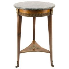 French Empire Style Marble Top Side Table