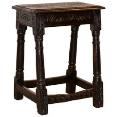 16th Century English Oak Joint Stool