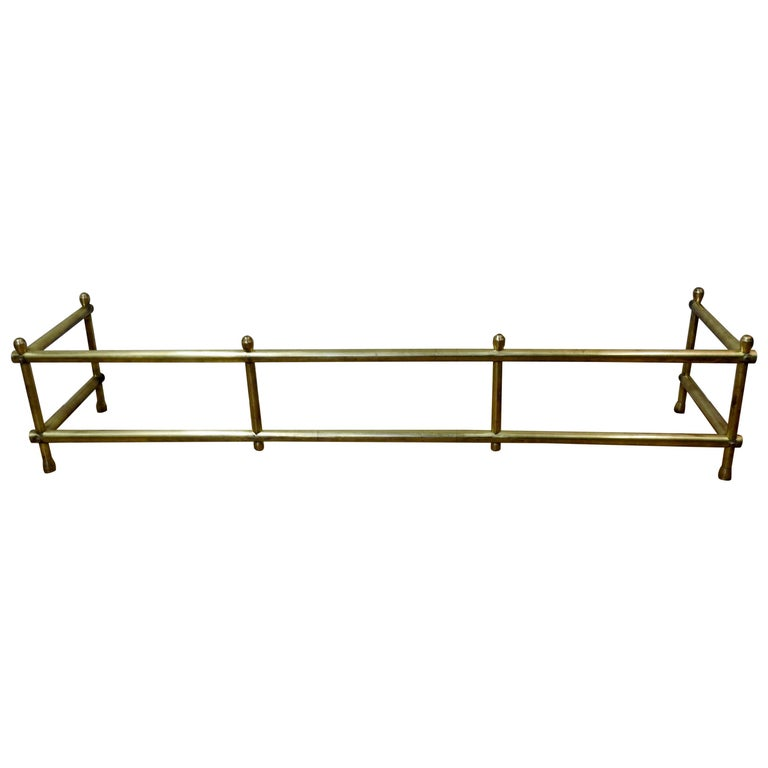 Mid-20th Century Solid Brass Fireplace Surround For Sale