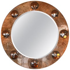 Large Round Parchment Mirror