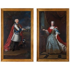 Pair of 18th Century École Française Portraits of the House of Habsbourg