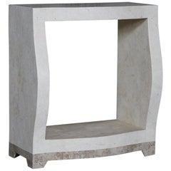 "Postmodern Single Shelf Tessellated Stone ""Monaco"" Étagère, 1990s"