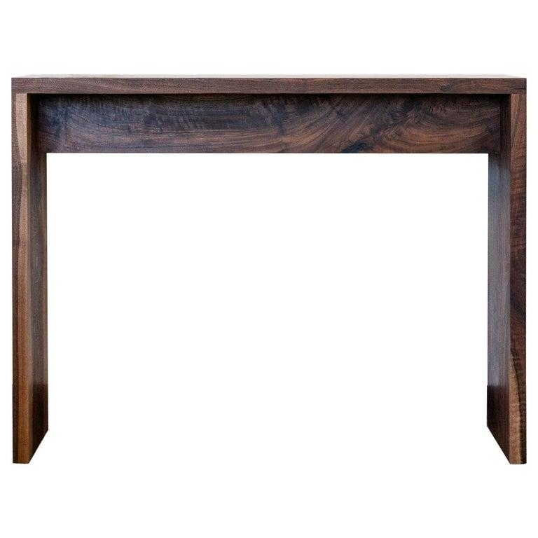 Walnut Console Table by Alabama Sawyer For Sale