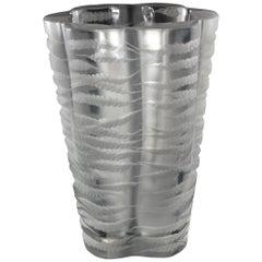 Lalique France 'Senlis' Crystal Vase