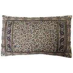 Vintage Hand-Blocked Kalamkari Lumbar Decorative Throw Pillow