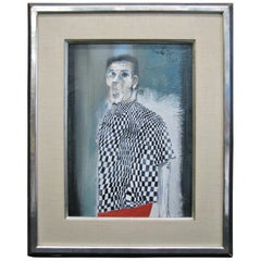 1963 Oil on Canvas by Bruno Caruso, 'Study of a Man in New York'